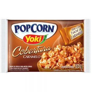 Pipoca Yoki Popcorn Cobertura Caramelo