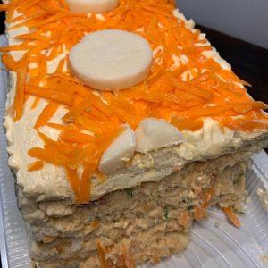 Torta Fria  frango com Palmito.