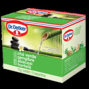 Xícara Chá Verde, Gengibre,Abacaxi e Hortelã