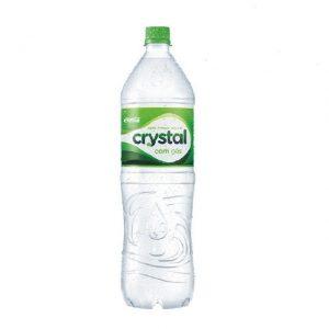 Agua Mineral cristal com gás 1,5litros.