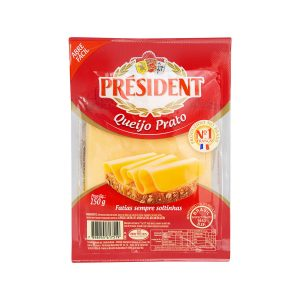 Queijo fatiado President prato 150g